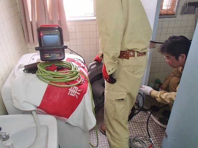 排水管の高圧洗浄工事