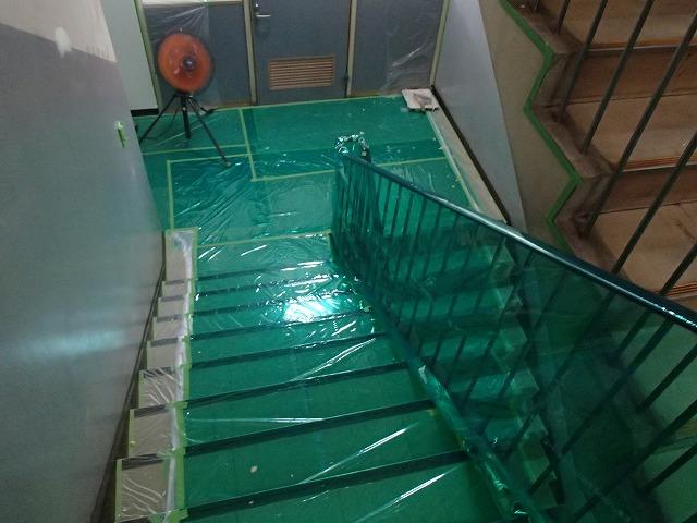 塗装工事の床養生
